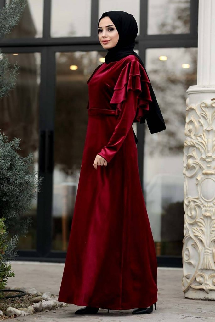 hijab engagement dresses