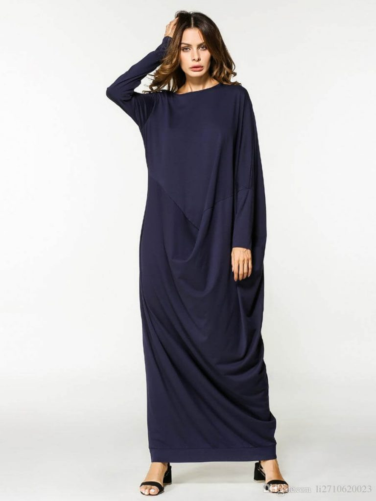navy blue kaftan for women