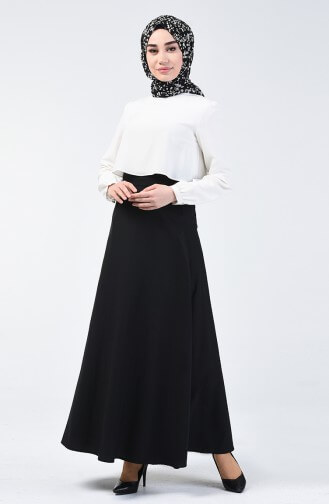 black long skirt with black hijab