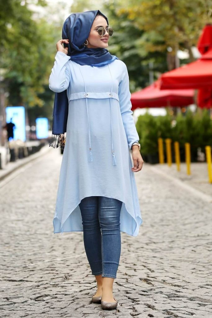tunics to wear with jeans and hijab
