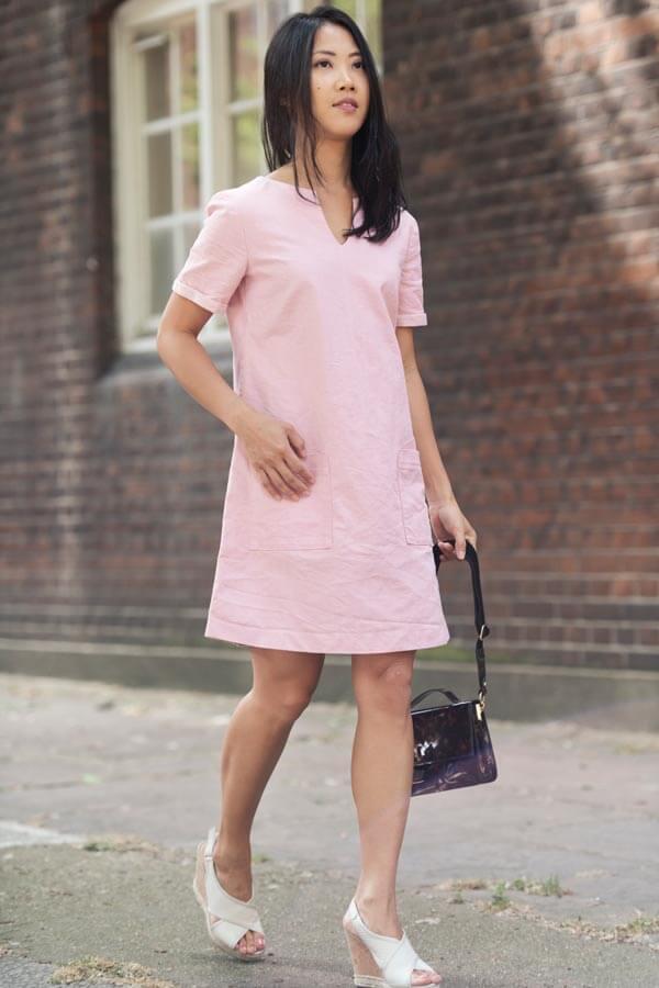 bomb petite pink dress