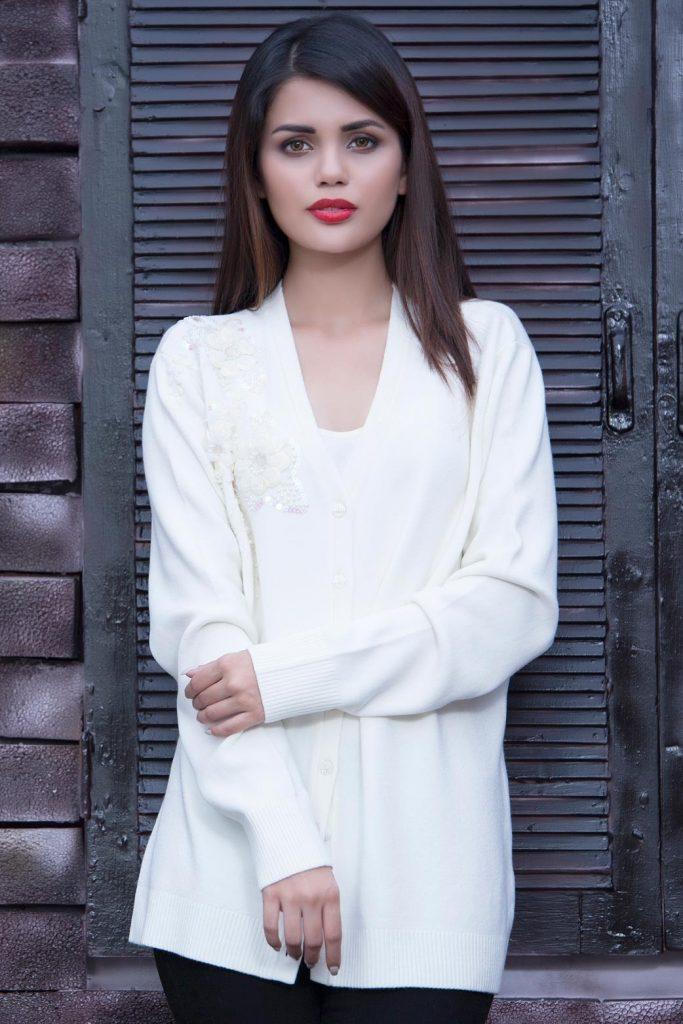 White Sweater Dress for Pakistani Petite Girl