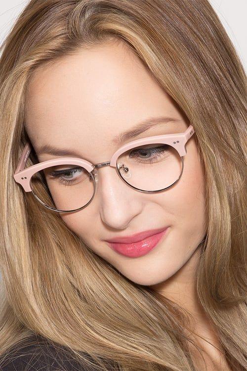 semi rimless glasses vintage