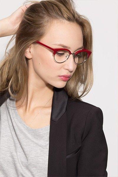 bottom half rim glasses